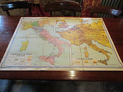 Huth Harding European Historical Wall Maps No.10: Unification of Italy 1815-1870