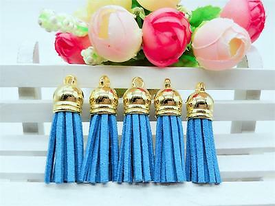 10pcs polyester cashmere leather tassel pendant fashion jewelry bag chain