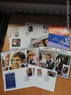 Prince Andrew and Fergie First Day Covers and Stamp Booklets 1986