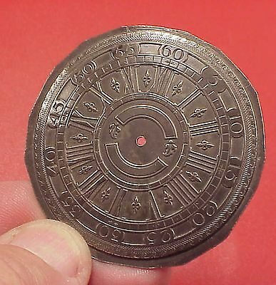 Vintage 45MM Sterling Cartouche Verge Fusee Replica POCKET WATCH DIAL PARTS