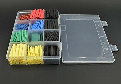 Allwin 530 Pcs 2:1 Heat Shrink Tubing Tube Sleeving Wrap Cable Wire 5 Color 8