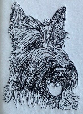Completed Embroidery Scottish Terrier Dog 1