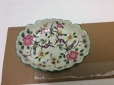 Oval Bowl Old Foley James Kent ltd Staffordshire England Chinese Rose