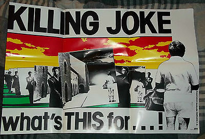 Killing Joke what's THIS for...! Vintage Original 81 Promo Poster Punk New Wave