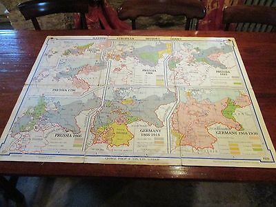 Harding European Historical Wall Maps No.20: Expansion of Prussia, 1740, 1786, 1