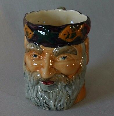 Vintage Shorter And Son Staffordshire Father Neptune Character Jug