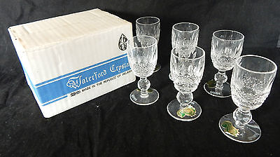 Set of 6 Waterford Crystal Colleen Cordial/Liquer Glasses - Signed & Boxed