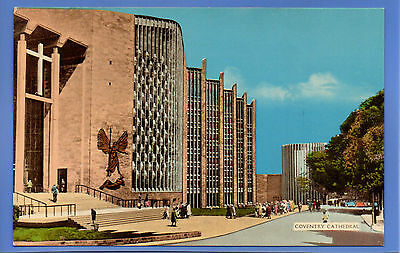 Old Vintage Postcard Coventry Cathedral Warwickshire