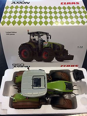 """Wiking Claas Axion 950 """"sporco"""" (dirty) 1:32 Limited Edition"""