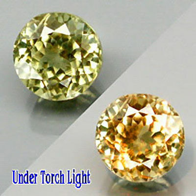 0.76Cts SUPREME Grade Gem - Amazing Natural Color Change DIASPORE 5mm Rd #LY001