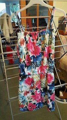 Girls floral playsuit, age 11/12