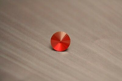 1ct Mexican Fire Opal - Cherry Red Flawless Custom Cut Faceted Gem