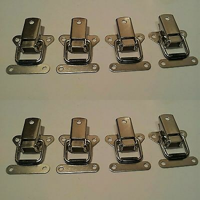 8 x Nickel Plated Toggle Catches clamp clip latch lock