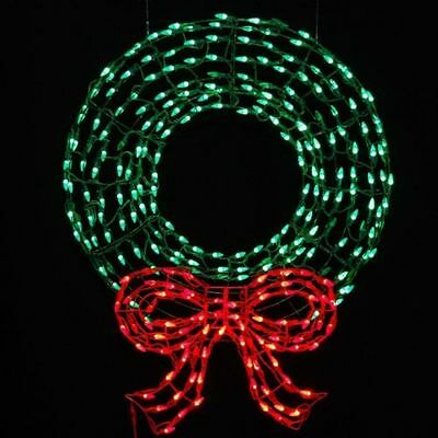 Pre Lit LED Outdoor Wreath Bow Sculpture Green and Red Lights 36  Pre Lit White and Red Outdoor Christmas Wreath   Warm White  . Outdoor Wreath With Led Lights. Home Design Ideas