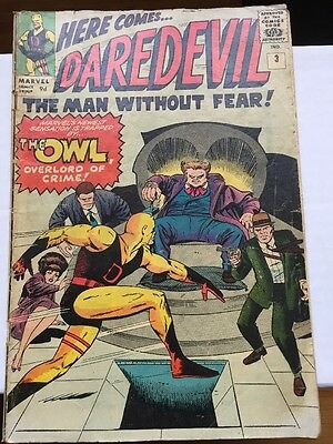 Daredevil #3 VG (4.0) - First Appearance Of The Owl