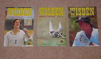 Wisden Cricket Monthly 1979,  V Early Editions - No 2,3 & 7- July, Aug and Dec