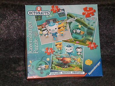 Ravensburger 3 Jigsaw Puzzles in a Box OCTONAUTS - AGES 4+ - COMPLETE