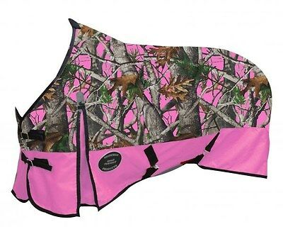 "Showman PINK 78"" Waterproof Turnout Horse Sheet w/ REAL OAK CAMOUFLAGE! NEW!!"