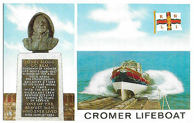 Vintage Postcard.   Cromer Lifeboat.  Unused.  Ref:72127