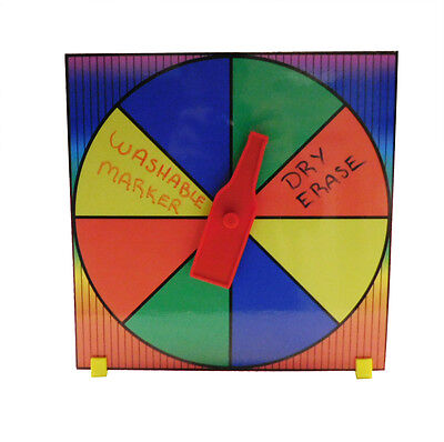 Prize Wheel Drinking Game Spin The Bottle Customize with Dry Erase or Washable