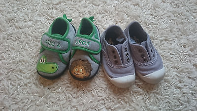 Next baby boy slippers and shoes trainers size infant 5
