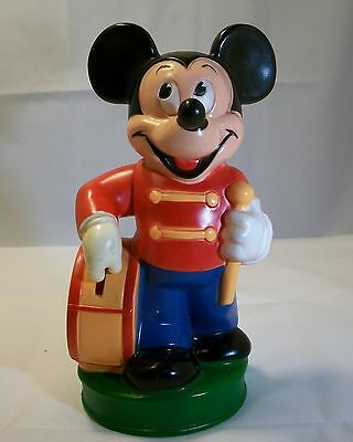 Vintage PLASTIC MICKEY MOUSE BANK - Holds Coin in Hand