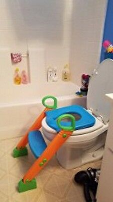 Padded Potty Toilet Training Seat Chair with Step Stool Ladder for Kids Toddler