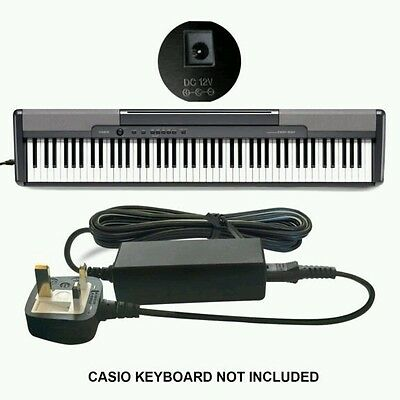 DC 12v 12 VOLT Power Supply Adapter for Casio WK-3800, WK-8000 Keyboard Piano