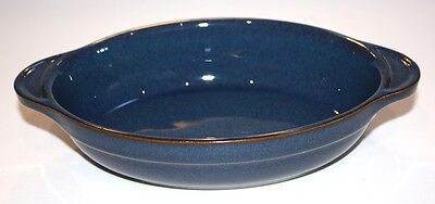 DENBY china BOSTON pattern Small OVAL BAKER with Tab Handles.