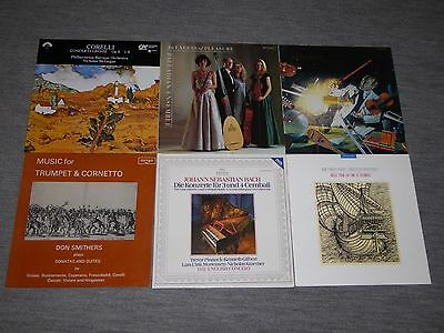 6 Classical Records of Baroque and Early Music in great condition