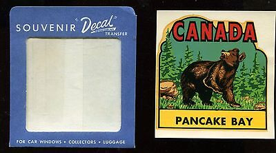 Vintage Canada, Bear Pancake Bay Provincial Park, Ontario Travel Decal Label