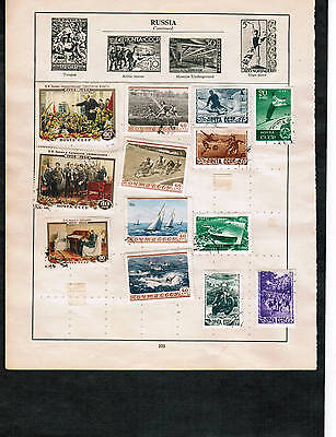 RUSSIA COLLECTION  3 pages (50+) not cat see scan USED & MINT  $50.00 est LOT303