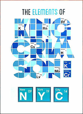 KING CRIMSON The Elements Of NYC Limited Edition RARE HUGE Litho Poster! (White)