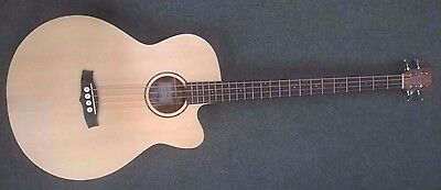 Tanglewood Roadster TWR-AB electro acoustic bass guitar, all satin finish, NEW