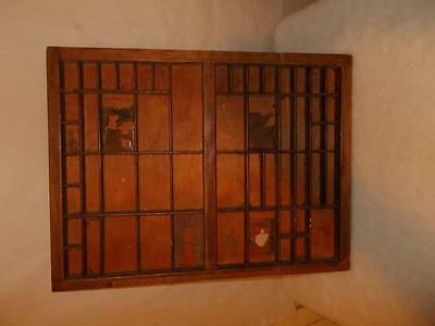 vintage Printer's / type setters / wood tray