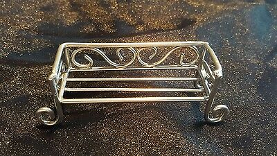1/12th scale dolls house miniature bench