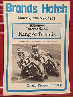 1978 King of Brands Motorcycle Event - Race Programme