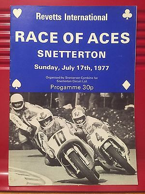 1977 Race of Aces Motorcycle Event - Race Programme