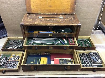 Moore & Wright 7 Drawer Engineers Tool Chest / Cabinet - With Selection Of Tools