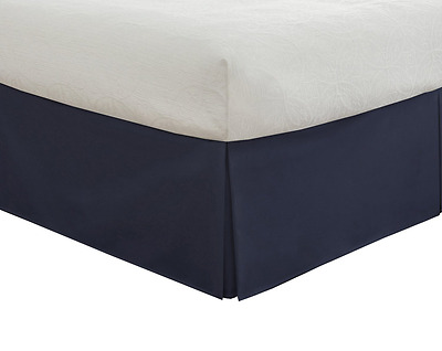 """Lux Hotel Bedding Tailored Bedskirt, Classic 14"""" drop length, Pleated Sty"""