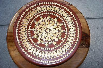 Russian wooden plate - decorative craft piece