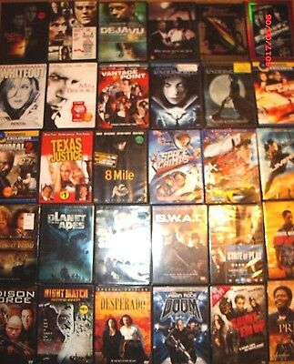 DVD movie lot of 30  Action adventure Titles personal collection