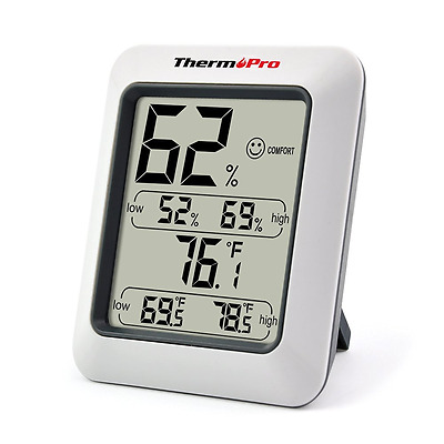 ThermoPro TP50 Digital Hygrometer Thermometer Indoor Humidty Monitor