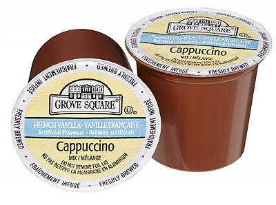 Grove Square Cappuccino Mix, French Vanilla, 24 Single Serve Cups