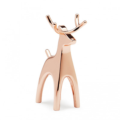 Umbra Anigram Copper Ring Holder, Reindeer