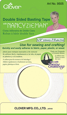 Clover Double Sided Basting Tape with Nancy Zieman, 1/2-Inch by 7.5-Yard
