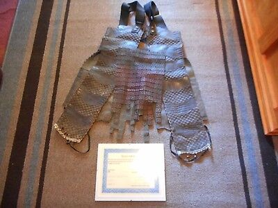 """Planet Of The Apes  Chimp Armor Skirt """"d.hubuns 501"""" Screen Used Movie Wardrobe"""