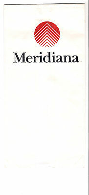 Meridiana airline sickbag unused