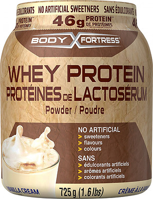 Body Fortress Whey Protein Powder Vanilla, No Artificial Sweeteners, 725g