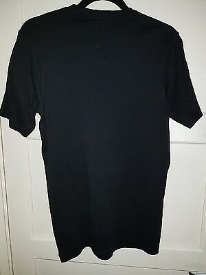 Mens/womens/unisex Black cotton crew neck short sleeve CottonTraders Tee shirt M